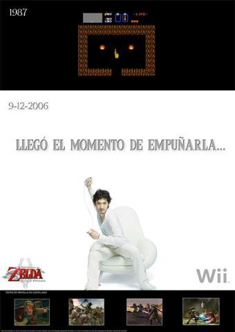 Publicidad de Zelda de Wii en España