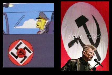 Los comunistas nazis nos atacan