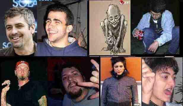 George Clooney vs PaBLo2097; Gollum vs El Willy; Fred Durst vs DiTh; Bebe (malo malo ereh) vs La Punkih